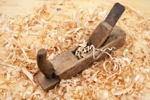 18260159-Hand-jack-plane-wood-chips-and-sawdust-Stock-Photo